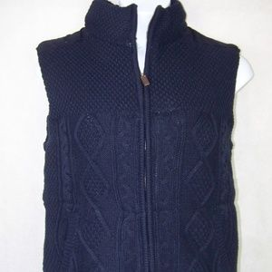 Anapo Men's Cable Knit Vest Size Large Thick new